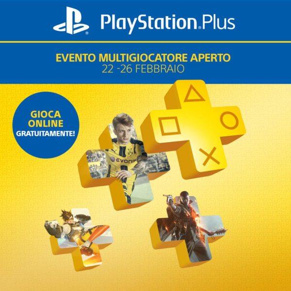 Playstation Plus gratuito dal 22 al 26 febbraio