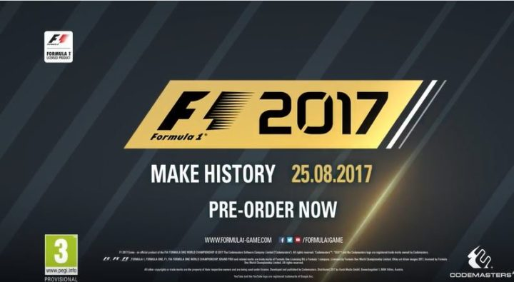 F1 2017: un video gameplay con Max Verstappen