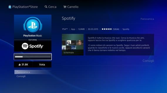 Installazione di Spotify