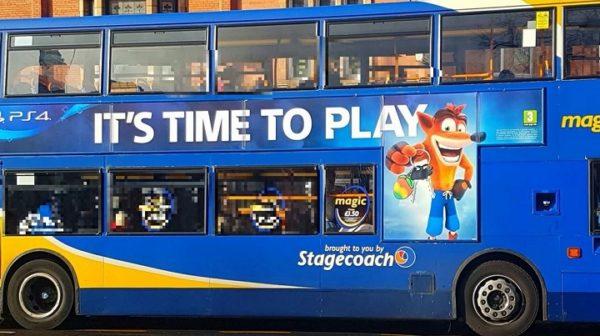 bus pullman playstation crash bandicoot