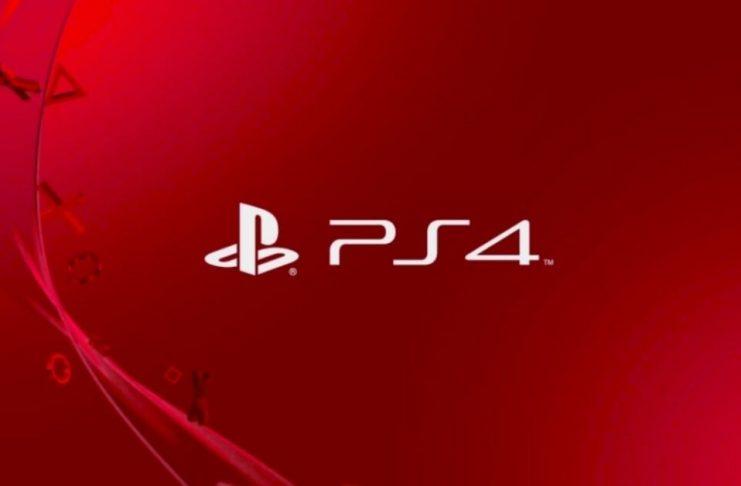 playstation 4 logo rosso